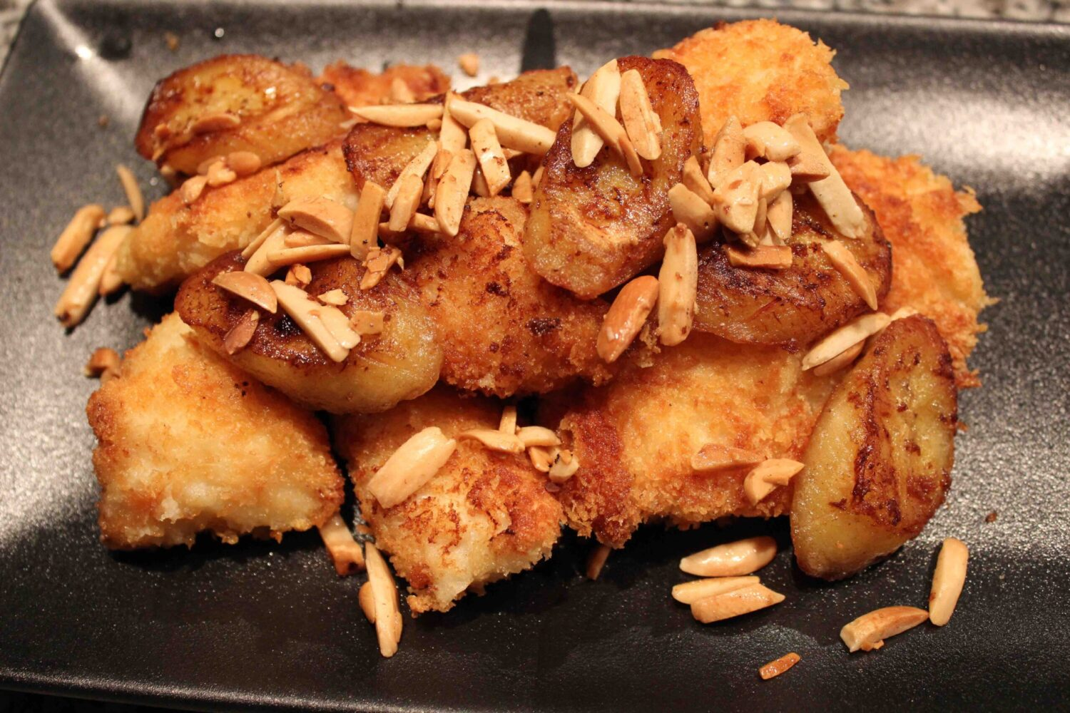 Fish With Bananas & Almonds